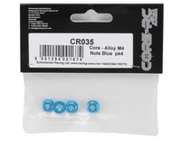Image 2 for Core-RC 4mm Aluminum Serrated Wheel Nuts (Blue) (4)