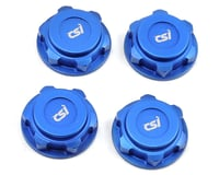 Competition Suspension XD 17mm Lightweight Aluminum Wheel Nuts (Blue) (4) (Kyosho Inferno MP9 Ready Set)
