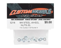 Image 2 for Custom Works M4 Serrated Flanged Wheel Nuts (8)
