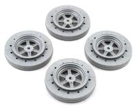 DE Racing Gambler Drag Racing Front Wheels (Silver)