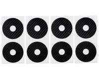 DE Racing 1/10 Buggy Wheel Sticker Disk (Black Carbon Fiber) (8)