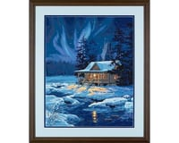 "Dimensions Moonlit Cabin (Winter Scene) Paint by Number (16""x"