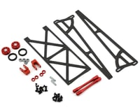 DragRace Concepts Slider Wheelie Bar w/O-Ring Wheels (Red)