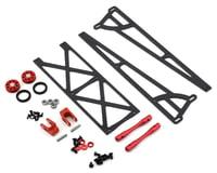 DragRace Concepts Slider Wheelie Bar w/O-Ring Wheels (Red) (Mid Motor)