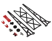"DragRace Concepts 10"" Slider Wheelie Bar w/Plastic Wheels (Red)"
