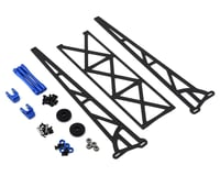 "DragRace Concepts 10"" Slider Wheelie Bar w/Plastic Wheels (Blue) (Traxxas Slash)"