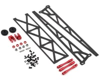 "DragRace Concepts 10"" Slider Wheelie Bar w/Plastic Wheels (Red) (Mid Motor)"