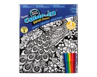 Darice Velvet Coloring Poster with Markers-Peacock