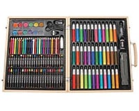 Darice 110310 ArtyFacts Deluxe Art Set in Wooden Case