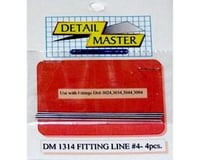 "Detail Master 1/24-1/25 Fitting Line #4 .045"" (3pc)"