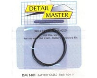 Detail Master 1/24-1/25 2ft. Battery Cable Black
