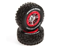 DuraTrax SpeedTreads Breakaway Short Course Rear Tires w/12mm Hex (Red) (2)