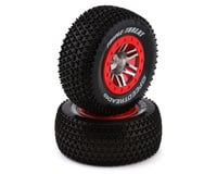 DuraTrax SpeedTreads Triple Threat SC Pre-Mounted Rear Tires (2) (Slash)