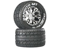 "DuraTrax Bandito MT 2.8"" 2WD Mounted Rear Tires, Chrome (2)"