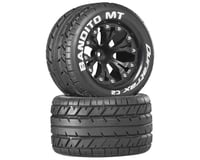 "DuraTrax Bandito 2.8"" Mounted Nitro Rear Truck Tires (Black) (2) (1/2 Offset)"