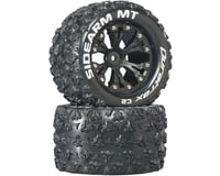 "DuraTrax Sidearm MT 2.8"" Mounted 1/2"" Offset C2 Tires, Black (2)"