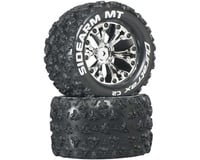 "DuraTrax Sidearm MT 2.8"" Mounted 1/2"" Offset C2 Tires, Chrome (2)"
