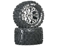 "DuraTrax Six-Pack MT 2.8"" 2WD Mounted Front C2 Tires, Chrome (2)"