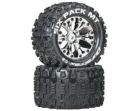 "DuraTrax Six-Pack MT 2.8"" 2WD Mounted Rear C2 Tires, Chrome (2)"