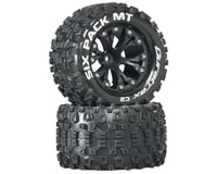 "DuraTrax Sixpack MT 2.8"" Mounted Nitro Rear Truck Tires (Black) (2) (1/2 Offset) 