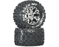 "DuraTrax Six-Pack MT 2.8"" 2WD Mounted 1/2"" Offset Tires, Chrome (2)"