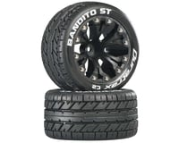 """DuraTrax Bandito ST 2.8"""" Mounted Rear Truck Tires (Black) (2) (1/2 Offset) 