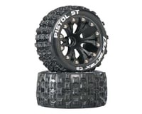 "DuraTrax Pistol ST 2.8"" 2WD Mounted Front C2 Tires, Black (2)"
