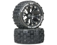 "DuraTrax Pistol ST 2.8"" 2WD Mounted Rear C2 Tires, Black (2)"