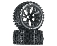"""DuraTrax Lockup ST 2.8"""" 2WD Mounted Front Tires (Black) (2)"""