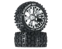 "DuraTrax Lockup ST 2.8"" 2WD Mounted Rear Tires, Chrome (2)"