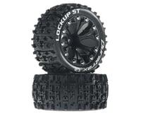 "DuraTrax Lockup ST 2.8"" Mounted Rear Truck Tires (Black) (2) (1/2 Offset) (Traxxas Jato)"