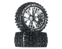"DuraTrax Lockup ST 2.8"" Mounted Offset Tires, Chrome (2)"