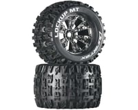 "DuraTrax Lockup MT 3.8"" Mounted Truck Tires (Chrome) (2) (1/2 Offset) 