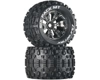 "DuraTrax Six Pack MT 3.8"" Pre-Mounted Truck Tires (Chrome) (2) (1/2 Offset) (Traxxas T-Maxx)"