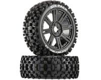 DuraTrax Six-Pack C2 Mounted Buggy Spoke Tires, Black (2)
