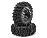 "DuraTrax Deep Woods CR 1.9"" Pre-Mounted Crawler Tires (2) (Black Chrome) (C3 - Super Soft)"