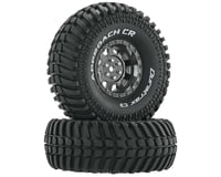 "DuraTrax Approach CR C3 Mounted 1.9"" Crawler Tires, Black Chrome (2)"
