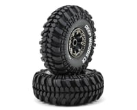"DuraTrax Deep Woods CR 2.2"" Pre-Mounted Crawler Tires (2) (Black Chrome)"