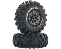 "DuraTrax Showdown CR C3 Mntd 2.2"" Crawler Tires, Chrome (2)"