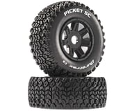 DuraTrax Picket SC Mounted Soft Tires, Black 17mm Hex (2)