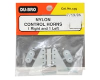 Image 2 for DuBro Nylon Control Horn Set (Large)