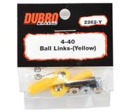 DuBro 4-40 Heavy Duty Ball Link (Yellow) (2)