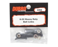 Image 2 for DuBro 6-32 Heavy Duty Ball Link (Black) (2)