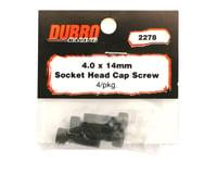 DuBro 4x14mm Socket Head Cap Screws (4)