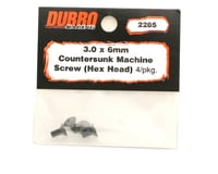 Image 2 for DuBro 3x6mm Flat Head Socket Screws (4)