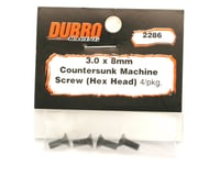 Image 2 for DuBro 3x8mm Flat Head Socket Screws (4)