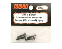 Image 2 for DuBro 3x14mm Flat Head Socket Screws (4)