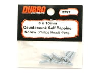 Image 2 for DuBro 3x10mm Flat Head Selftap Screws (8)