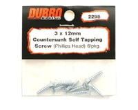 Image 2 for DuBro 3x12mm Flat Head Selftap Screws (8)
