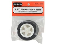 """Image 2 for DuBro 2.50"""" Micro Sport Wheels (2)"""